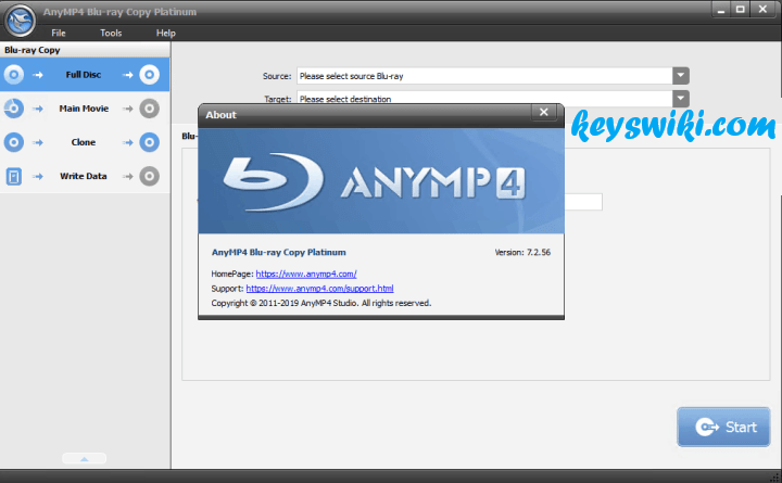 AnyMP4 Blu-ray Copy Platinum 7.2.66 With Crack
