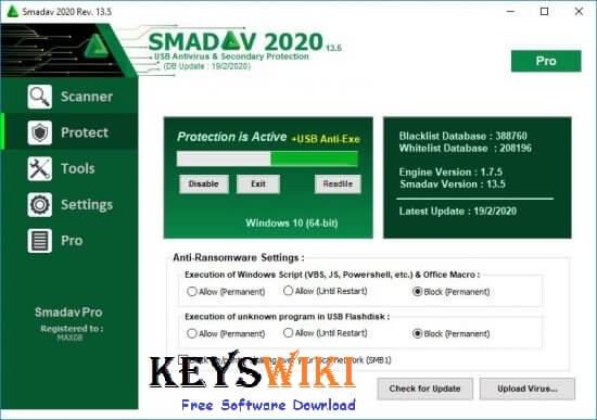 Smadav Pro 2020 Crack v13.8 With Serial Key Free Download