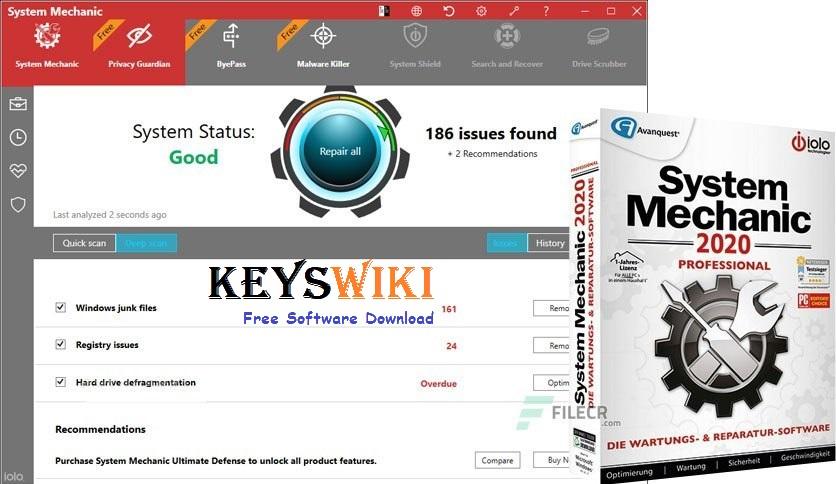 System Mechanic Pro 20.3.0.3 Crack + Activation Key Full Version 2020