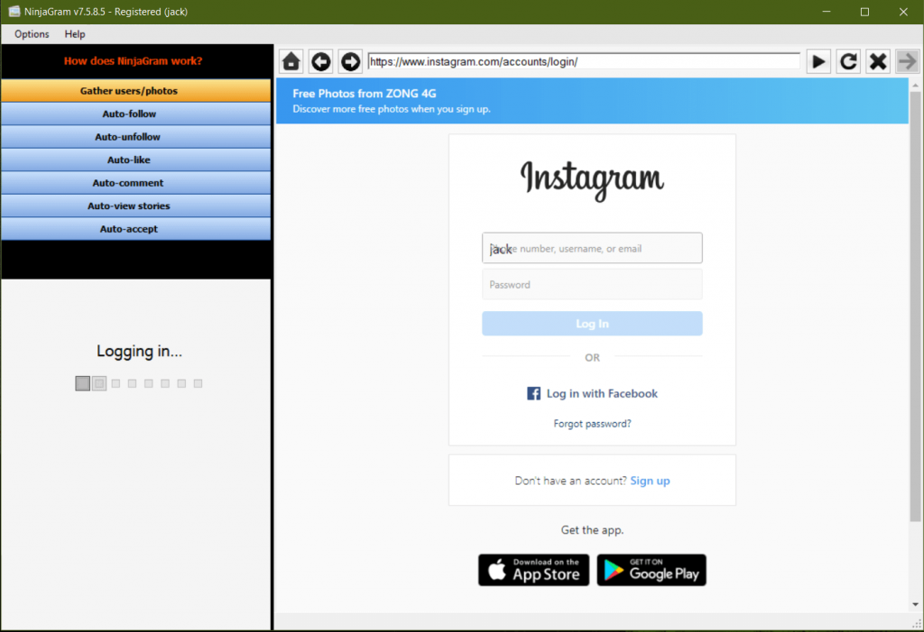 NinjaGram Crack 7.6.4.2  [ Latest Version] Download 2021