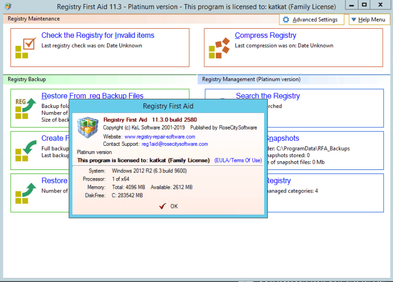 Registry First Aid Platinum Crack + 11.3.0.2585 Full Latest 2021